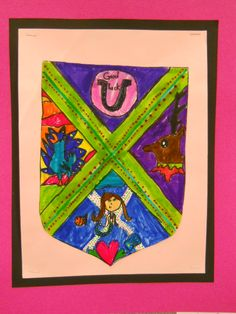My 2nd Graders created their own Coat of Arms designs to describe themselves at the start of the school year.