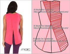 Trazar cola de pato en espalda de blusas o vestidos parte 2