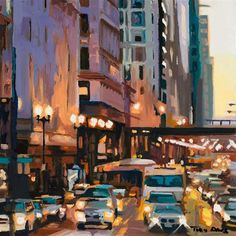 "Daily Paintworks - ""Congestion"" - Original Fine Art for Sale - © Toby Davis"