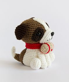 Amigurumi Winter Wonderland - Saint Bernard dog
