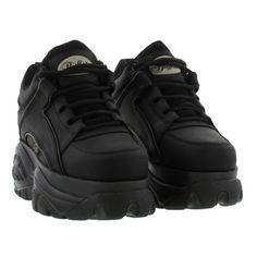 Buffalo Boots Womens 1339-14 Trainers - Black White Label