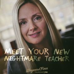 Megan's lesson plans aren't for the weak. Meet your new teacher at Wayward Pines Academy, tonight at Real Tv, Hooray For Hollywood, Episode Online, Watch Full Episodes, New Teachers, Twin Peaks, Favorite Tv Shows, Movies And Tv Shows, Meet You