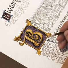tag us and we 👁 you Author: - Illuminated Lettering Calligraphy Drawing, How To Write Calligraphy, Beautiful Calligraphy, Calligraphy Alphabet, Beautiful Fonts, Calligraphy Fonts, Islamic Calligraphy, Caligraphy, Vintage Lettering