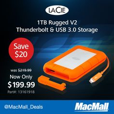 Important files? Keep them on a rugged #Lacie 1TB drive, now $20 off at MacMall.