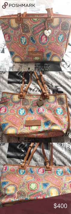 Disney Dooney and Bourke handbag Perfect condition! I am the original owner and have only used this a couple of times. No marks or flaws. This is an extremely rare bag that is difficult to find! Smoke free, animal free home. Dooney & Bourke Bags Totes