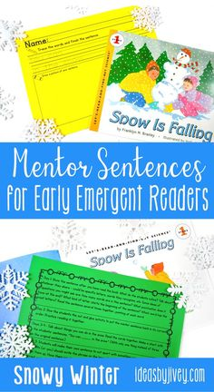 Mentor sentences model writing through excellent sentences from your favorite read-aloud books! This set is just what you need to implement some snowy mentor sentences in your balanced literacy Kindergarten classroom. I created these with kindergartners in mind, but they would also be appropriate for early emergent readers in first grade, or even ELL students! #childrensbooks #kindergarten #mentorsentences #teachingesol #emergentreaders