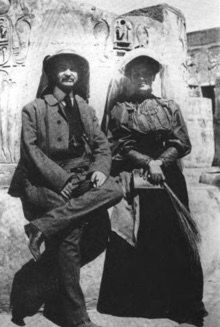 L Frank and Maud in Egypt