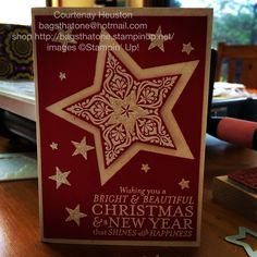 Stampin Up Stars Bright and Beautiful in Real Red  http://bagsthatone.stampinup.net/