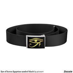 Eye of horus Egyptian symbol black Belt