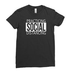 Practicing Social Distancing Funny Covid Quote - Women T-shirt - 2XL / Red