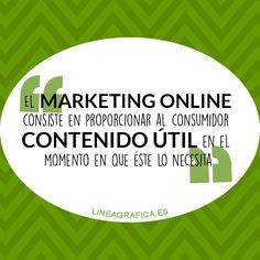 Frase marketing online. Marketing digital.