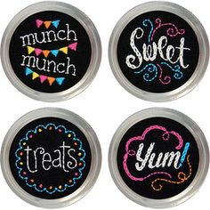 General Crafts > Jar Crafts > Set Of 4 - Sweets Jar Topper Embroidery Kit: A Cherry On Top