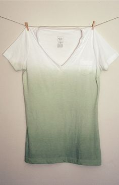 DIY Dip dyed shirts. Can't tell you how many old shirts I want to do this to!