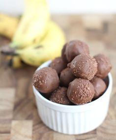 Chocolate Dipped Banana Bread Truffles :
