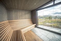 Cabin with Green Roof Offers a Window into Mesmeric Norwegian Scenery Cabin Design, Roof Design, Roofing Options, Residential Roofing, Roof Covering, Timber Cladding, Roof Plan, Scandinavian Furniture, House And Home Magazine