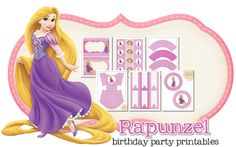 Imprimible gratis de Rapuncel - Decoración para fiestas de princesas   DEF Deco - Decorar en familia