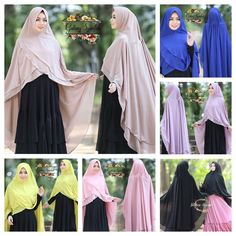 Aminah Instant Hijab by Gallery Syafirah. ~One piece slip on style. ~Requires no wrapping or pinning (Only pin at the neck if necessary). ~Material: Chiffon blend.   eBay!