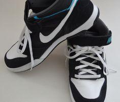 43 minutes remain! 2011 Nike Air Twilight Mid Black White Blue Mens Size 14 Sneaker  343664 024 #Nike #AthleticSneakers