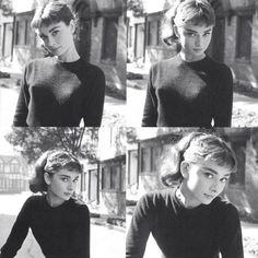 Four shots of actress Audrey Hepburn (1929-1993), date unknown.