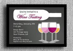 Wine Tasting Invitation Printable  Bridal Shower by ThatPartyChick, $18.00
