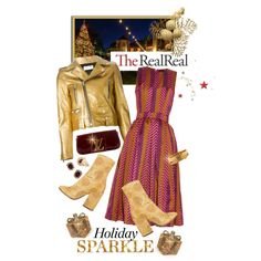 Holiday Sparkle With The RealReal: Contest Entry by shortyluv718 on Polyvore featuring polyvore, fashion, style, House of Holland, Yves Saint Laurent, Dries Van Noten, Louis Vuitton, Kate Spade and Shea's Wildflower