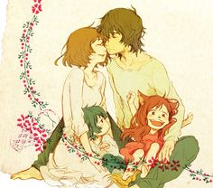 OMG we watched this for our Japanese Study group. loved it! Wolf Children: Ame and Yuki. Gorgeous art for a gorgeous movie~ <3