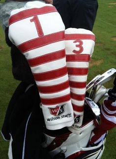 Wilson Staff went retro for these headcovers that made their debut at the U. Wilson Golf, Golf Headcovers, Golf Instruction, Golf Clubs, Golf Courses, Beef, Gift Ideas, Retro, Sports