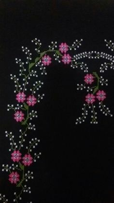 Maquillaje Halloween, Christmas Cross, Cross Stitch Designs, Embroidery Designs, Flowers, Projects, Knit Crochet, Cross Stitch Patterns, Crochet Flowers