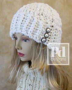 Chunky Crochet Patterns | Chunky Ribbed Beanie Crochet Pattern PDF