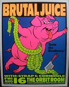 Frank Kozik - 1996 - Brutal Juice Poster
