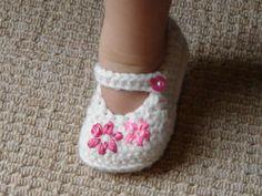 Zapatos del ganchillo del bebé - en 4 tamaños por HappyBerry | Ganchillo Ideas
