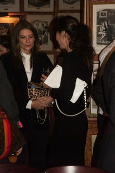 Natalie Massenet and Tamara Mellon #TamaraMellon March/April 2014 Preview at Harry's Bar, London.  Photo: Jessica Rodgers