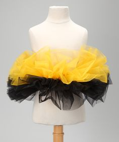 Take a look at this Gold & Black Tutu on zulily today!