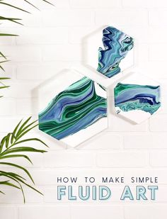 Learn how to make beautiful one-of-a-kind fluid art. Paint pouring is a fun and simple technique that creates gorgeous art pieces! Diy Artwork, Diy Wall Art, Make Art, How To Make, Diy Projects To Try, Crafty Projects, Sewing Projects, Craft Tutorials, Make It Simple