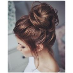 Messy buns ❤ liked on Polyvore featuring beauty products, haircare, hair styling tools, hair and hairstyles