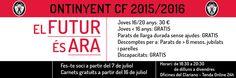 DIARIO DIGITAL D'ONTINYENT: Oberta la venda online de carnets 2015/2016