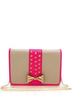 Spiked Bow Accent Clutch