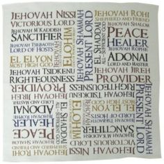 Prayer Cloth - Names of God Names Of God, Christian Gifts, Communion, Worship, Prayers, Lord, Clothes, Outfits, Clothing