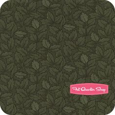 Harvest Moon Tonal Green Fallen Leaves Yardage SKU# 9375-23 - Fat Quarter Shop $10.75/yd