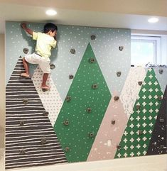 Climbing wall adjacent to each of the kids loft bed would be super cool