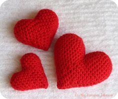 ♥ⓛⓞⓥⓔ♥ corações de croche, como fazer gratis
