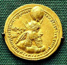 PERSIAN ANCIENT GOLD COIN...........PARTAGE OF SWEET TART TERESA...............