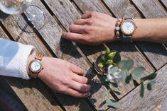 S kamarátkou na vínku jedine v hodinkách Barrique ! Wood Watch, Leather, Accessories, Wooden Clock, Jewelry Accessories