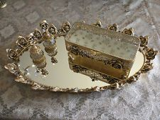 """So Pretty...Vintage Vanity Tray & Accessories    Mixing the """"OLD"""" with the """"NEW"""" is what """"WE DO"""" !!!"""