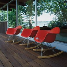 Order your Eames Molded Plastic Armchair Wire Base. An original design by Charles and Ray Eames, this Eames Shell Chair is manufactured by Herman Miller. Eames Rocker, Eames Rocking Chair, Old Chairs, Eames Chairs, High Chairs, Dining Chairs, Deck Chairs, Metal Chairs, Adirondack Chairs