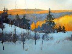 Madawaska Hills - late afternoon: oil on canvas by David Lidbetter Fine Art River Painting, Painting Snow, Painting Frames, Painting Art, Landscape Artwork, Abstract Landscape, Abstract Oil, Watercolor Landscape, Nature Paintings