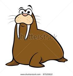 stock-vector-cartoon-vector-illustration-of-a-walrus-87520822.jpg (450×470)