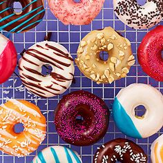 Customize these baked doughnuts with your favorite cake mix, frosting flavor and toppings. Serve these goodies for a decadent breakfast or dessert.
