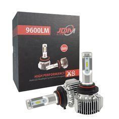 JDM LITE New Version 9005 Extremely Bright XTC Chips LED Headlight Bulbs Kit 9600 Lumens Xenon White 6000k 2 Yr Warranty