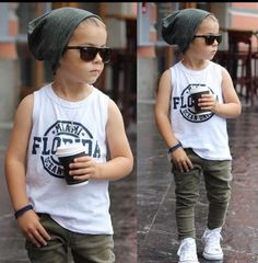 Toddler fashion summer fashion fall outfit summer outfit fashion inspo mixed babies olive jeans white sneakers white too grey beanie Tap the link now to find the hottest products for your baby! Fashion Kids, Toddler Boy Fashion, Little Boy Fashion, Fashion Fall, Boys Fashion Summer, Fashion 2016, Fashion Clothes, Toddler Girl, Baby Kids